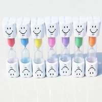 Wholesale Cheapest Household Items - 3 Minutes Smiling Face Hourglass Decorative Household Item Children Kids Toothbrush Timer Sand Clock Cheap Low Price