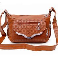 Wholesale Bags Mom - Atrra-Yo! 2015 women messenger bags leather handbag mid-age models shoulder bag crossbody mom handbags popular bag LS5758ay