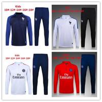 Wholesale Men S Uniform Jackets - kids Top quality France soccer jackets uniforms sportswear 16- 17 Training suit football Tracksuits jackets