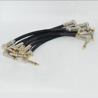 câble pour pédales achat en gros de-Câble de correction de guitare 6PCS Câble de pédale d'effet pour instrument à angle droit 6