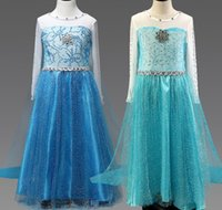 Wholesale Snowflake Skirts - Baby girls Frozen Elsa Princess dresses clothes sequins cape skirt girl cosplay costume Diamond Snowflake in chest clothing 3 styles CSZ005