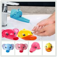 Wholesale Hand Sinks - Wholesal- Children Faucet extension baby hand washing to guide sinks handwash switch water rap extension mouth tap fittings A0337