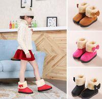 Wholesale Korean Girls Boot - 2016 new winter snow boots shoes Korean Children snow boots children shoes baby girls Princess boots shoes wholesale parent-child size 21-38