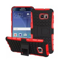 Wholesale heavy duty case for s5 - Heavy Duty Rugged Dual Layer in1 Shockproof Case with Kickstand for Samsung galaxy S4 S5 S6 edge note note note A5 A7 A8 galaxy red