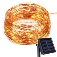 Cheap led outdoor waterproof tree - 200 LEDs Waterproof Solar Powered Starry String Copper Wire Fairy Lighting Party Lights for Indoor Outdoor Decorations