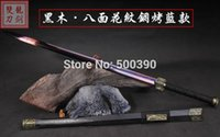 Wholesale Han Jian - Handmade Octahedral blue Folded Steel Sharp Chinese China Sword Han Jian Katana Knife Sharped