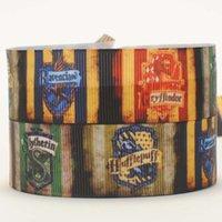 "Wholesale Grosgrain 22mm - 22mm 7 8"" Harry Potter logo printed cartoon gift hairbow grosgrain ribbon tape 50yards lot"