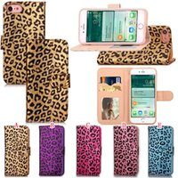 Wholesale flip leopard iphone cases for sale - Group buy Leopard Flip Wallet Leather Pouch Case For Iphone X XS Plus S I6 I7 Iphone7 Photo Frame ID Card Stand TPU Cell Phone Skin Cover