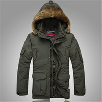 Wholesale Snow Jackets For Men - Fall-Men's Long Thicken Jacket Casual Warm Winter Snow 70% White Duck Down Coat Jackets Overcoat ,Outwear for men,2 Colors,Size M-4XL