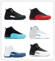 Wholesale Pink Rose Boots - 2016 new Online Mens Basketball Shoes air Retro 12 TAXI Playoff BLAck Flu Game Cherry retro12 XII Men Sneakers boots Free Shipping