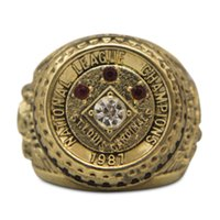 Wholesale Cardinal Rhinestone - Hot New Arrival Fashion Alloy ST Louis Cardinals 1987 NLCS National League World Series Championship Ring
