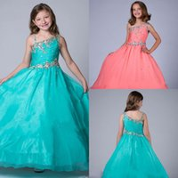 Wholesale Dress Girl Discount - Pink Flower Girl Dresses Discount Cupcake Yellow Girls Pageant Dresses Girl Dresses for Ritzee Girls Pageant Gowns 2016 New Arrival HY1155