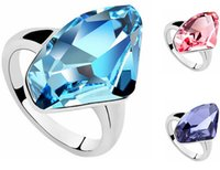 Wholesale Women Swarovski Crystal Rings - High Quality Women Wedding and Engagement Rings Fashion Jewelry Made With Swarovski Elements Crystal Ring Wholesale Fashion Jewelry 509