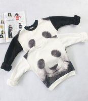 Wholesale Tiger Leotards - mini rodini 2015 winter 3d tiger panda pattern kids sweatshirt children clothing sets sweater kikikids child short sleeve leotard