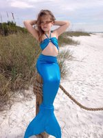 Wholesale lovely swimwear online - Summer Lovely Girls Tail Bikini Swimsuit Swimming Costume Cute Girl Bikini Set Swimwear Kids Performance Bathing Suits