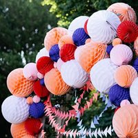 Wholesale Paper Party Store - 15 cm ball honeycomb paper lantern flower ball flower wedding birthday window jewelry store jewelry holiday decoration supplies