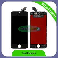Wholesale Iphone Full Front Lcd - For iPhone 5 front glass Grade A+++ LCD Display Touch Digitizer Complete Screen with Frame Full Assembly Replacement Parts By DHL