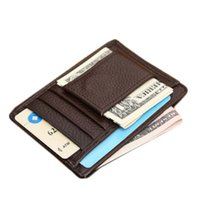 Wholesale Leather Cash Clip - 2017 New Style Men's Genuine Leather Money Clip Famous Brand Wallet Fashion Designer Wallet For Cards and Cash