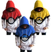 Wholesale Loose Leisure Hoodie - Hot Selling Leisure Hoodies Sweatshirts Pullover Long Sleeve 3D Printing Magical Poké Ball Sweater Fall Winter Unisex Clothing New