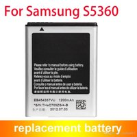 Wholesale Galaxy Y Phone - Mobile Phone Galaxy Y Young Battery For Samsung GT-S5360 1200mAh EB454357VU ACCU