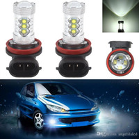 Wholesale pure headlights - H8 High Power Led Fog Headlight Lamp Bulb for Car Light Auto Bulb Pure White DC12V