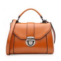 Wholesale Messenger Bags Uk - Korean Fashion Genuine Leather shoulder bag for girls shoulder handbags uk messenger bag replacement strap brown