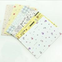 Wholesale Cute Stationery Envelopes - small floral prints fresh Wholesale Korea Cute flower 17.5cmx12.5cm paper Kawaii wedding decoration invitation envelope Stationery 70pcs lot