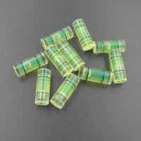 15 mm plastik toptan satış-Haccury (25 adet / grup) 6 * 15mm Plastik Tüp Seviye Kabarcık Terazisi Parçaları