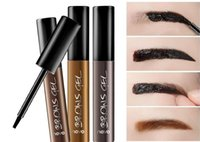Wholesale Cosmetic Pen Dark Brown - 6PC Korean Cosmetics Waterproof Long-lasting Peel Off Dye Eyebrow Gel Cream Mascara Make Up Pen Eye Brow Tattoo Tint Eye Makeup