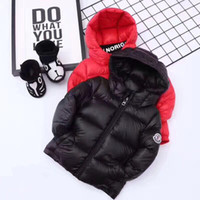 Wholesale Snow White Clothing Girls - 2017 winter down jacket parka for girls boys coats , 90% down jackets children's clothing for snow wear kids outerwear & coats