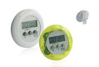 cronómetro temporizador gratis al por mayor-¡Envío libre al por mayor por DHL! ! Colorido Lcd digital temporizador cronómetro cocina cocina cuenta regresiva cloc