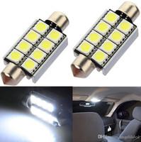 ingrosso 12v luci della mappa-42mm 8 SMD 5050 LED Pure White Car Festone Lampadine Map Interior Dome Light 12V 211 Automobile Lampada