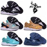 Wholesale Pa Lights - 2016 Air Huaraches Run PA Premium Black White Knit Men & Women running shoes,Original Air Huaraches For Men Women Shoes Size 36-45