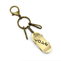 Wholesale Personalized Couple Gifts Alloy - Fashion Personalized Creative Gifts Alloy Scooter Model Pendant Key Rings Love Couple Gift Backpack Hanging Buckle