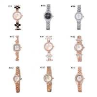 Wholesale Square Shape Watches - Cheap Quartz Wrist watches luxury diamond watches 6 pieces a lot mix color,fashion Round Square shape women watch power reserve watch GTWH3