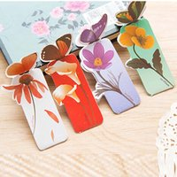 Cute 50pcs Bookmarks Para Livros Paper Stationery Office School Home Supplies Elegante Moda Butterfly Shape Presentes Papelaria Free Shipping