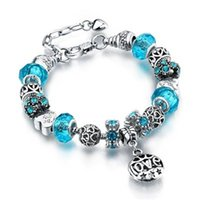 Wholesale Crystal Decoration Green - Gorgeous Bracelets with Charm Beads for Pandora Pendant Bracelets Different Color Bead Decoration for Men and Women European Style Jewelry