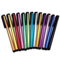 caneta stylus para galaxy venda por atacado-500 pçslote stylus tela capacitiva stylus caneta caneta de toque para o iphone, ipad, itouch, samsung galaxy, Samsuang Pad Tablet PC DHL