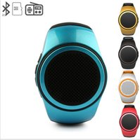 Wholesale Music Player Timer - TOP B20 Mini Bluetooth Speaker Smart Watch Bluetooth Subwoofer Universal for android IOS Music Player TF Card FM anti-lost selfie-timer 30ps