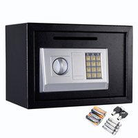 Wholesale 14 quot Digital Depository Drop Cash Safe Box Gun Jewelry Home Hotel Lock Black New