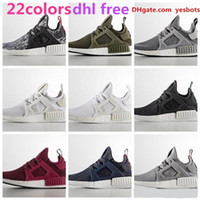 Wholesale Cheap Adult Shoes - Free Shipping 2017 NMD R1 R2 PK Adult & Kids Children Running Shoes Sports Sneakers 15 Colors Matching Cheap Online For Sale 36-45