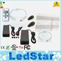 Wholesale Remote Controlled Leds - 40pcs 5630 LED Module 3 leds storefront lights Waterproof for window sign letter cool white+ RF Remote control +Power supply Free ship