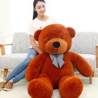 grande ursinho de pelúcia venda por atacado-Alta qualidade Baixo preço brinquedos de Pelúcia tamanho grande80 cm / teddy bear 80 cm / grande abraço urso boneca / amantes / presentes de natal presente de aniversário