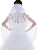 Wholesale Lace Wedding Veils For Sale - Wholesale Short Lace Wedding Veils with Comb 2 Layer Wedding Accesories For Your Dresses Cheap High Quality Hot Sale Bridal Veil