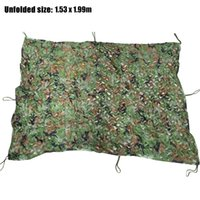 Caza Camping Camo Net 1.53 X1.99 m Woodland Leaves Red de camuflaje Jungle Leaves Camo Net para coches Shade Cloths Cover Hot + B