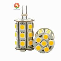 ampoule g6.35 achat en gros de-A conduit l'ampoule d'éclairage de lampe G6.35 2700K 12VAC / 12VDC / 24VDC 27LED de 5050SMD 4W pour remplacer l'halogène 35W