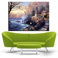 Wholesale Hd Arts - ZZ448 Village Thomas Kinkade HD Canvas Print Living Room Bedroom Wall Pictures Art Painting Home Decoration No Frame paintings