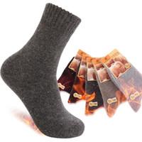yüksek kaliteli yün çorap erkek toptan satış-Ücretsiz kargo yüksek kalite erkekler kalınlaşma ourdoor merinos yünü termal çorap, orijinal marka spor erkek kış çorap, WEK201301