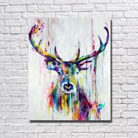 1Peices Wall Canvas Art Abstract Deer Painting Living Room Wall Decor Pictures Hand Painted Nice Animal Oil Painting No Framed