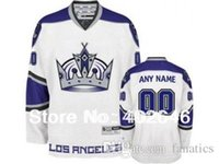 Wholesale W Ice - LA Kings customized   custom hockey jersey, black 3rd or white 3rd colors, w  Crown in front, pls read size chart before order